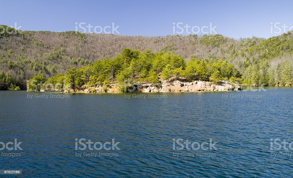 Alpine Lake in the spring royalty-free stock photo