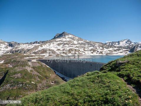 Beautiful alpine lakes in Ticino Canton, Switzerland, Summer season