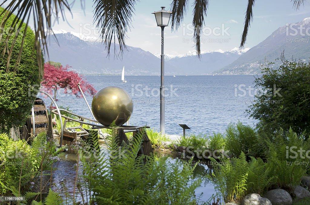 Alpine lago foto de stock libre de derechos