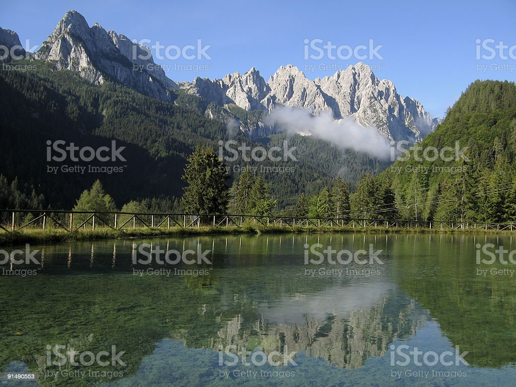 Alpine lake royalty-free stock photo