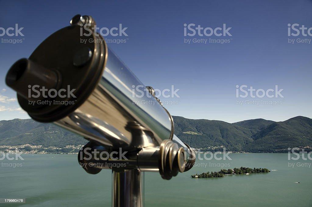 Alpine lake with islands royalty-free stock photo