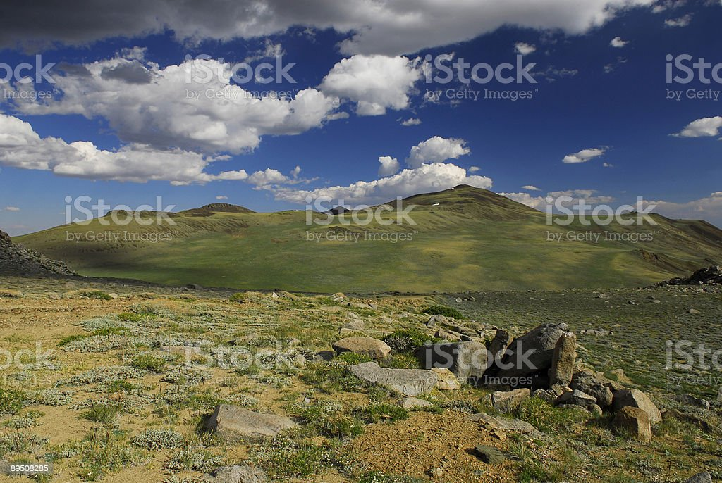 Alpine landscape at high elevation in White Mountains of California royalty-free stock photo