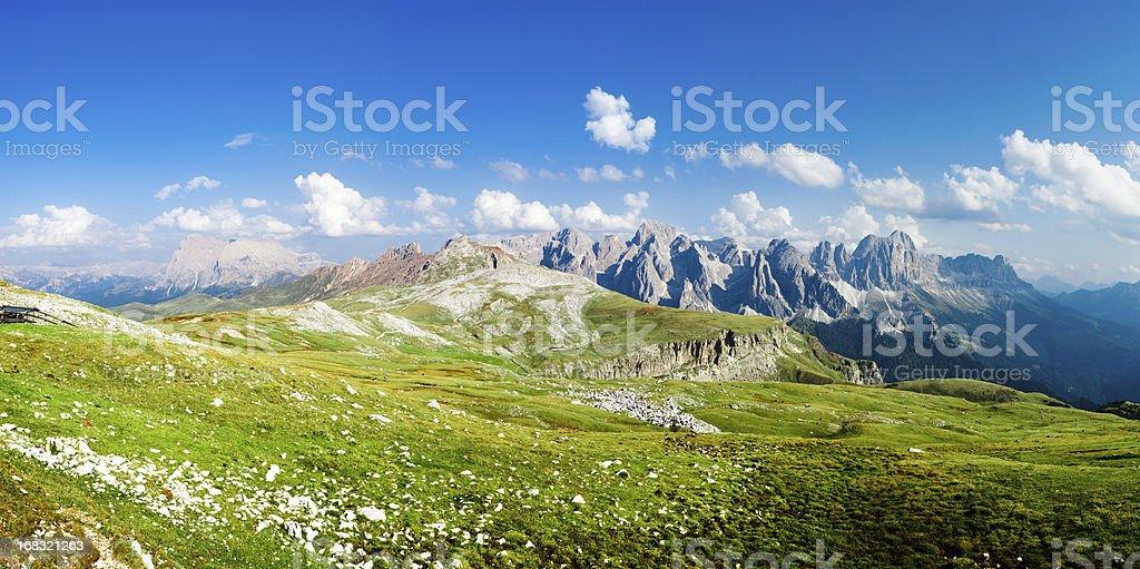 Alpine Landscape, Dolomites, Italian Alps Mountain Panoramic royalty-free stock photo