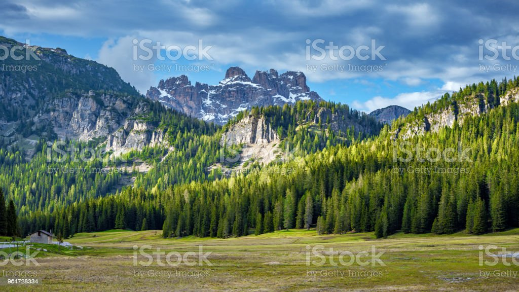 Alpine landscape from South Tirol, Italy royalty-free stock photo