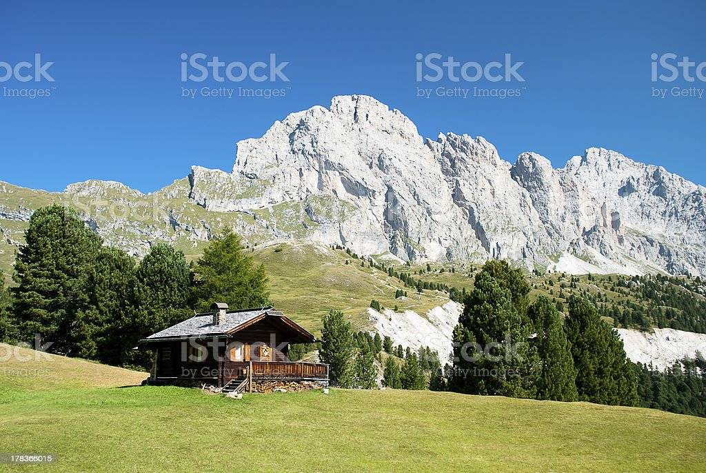 Alpine landscape in Italy stock photo