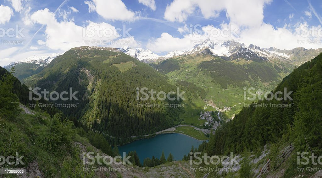 Alpine landscape, XXL royalty-free stock photo
