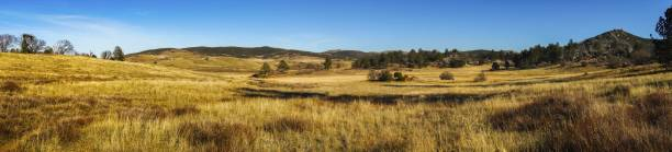 Alpine Meadows Wide Panoramic Landscape Cuyamaca Rancho State Park San Diego County stock photo