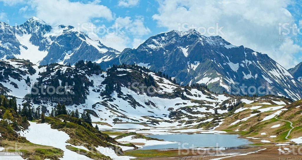 Alpine mountain panorama (Vorarlberg,Austria) stock photo