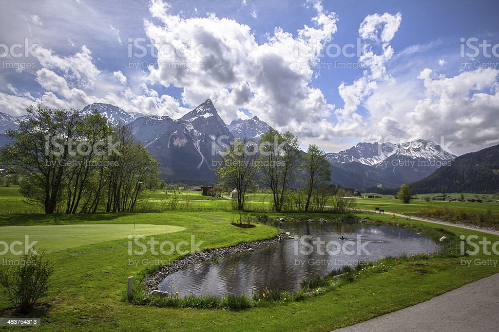 Alpine mountain royalty-free stock photo