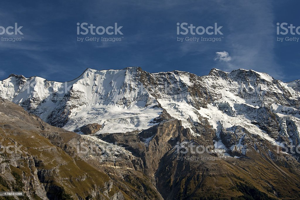 Alpine mountain range royalty-free stock photo