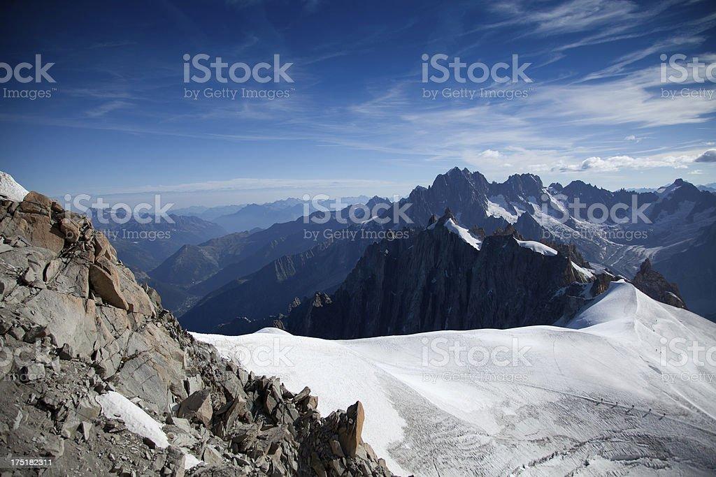 Alpine mountain scenery with glacier royalty-free stock photo