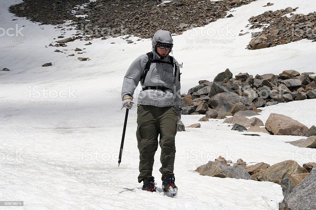 Alpine Mountaineering royalty-free stock photo