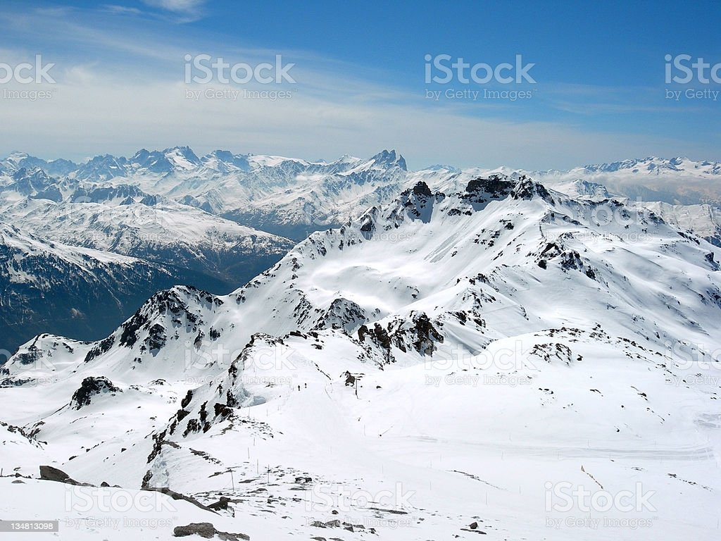 Alpine Mountains in France royalty-free stock photo