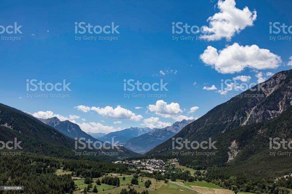 Alpine mountains landscape zbiór zdjęć royalty-free