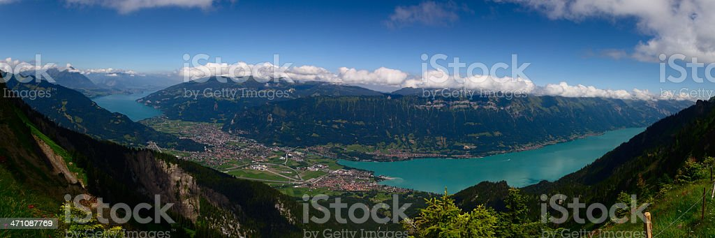 Alpine Panorama: Interlaken royalty-free stock photo