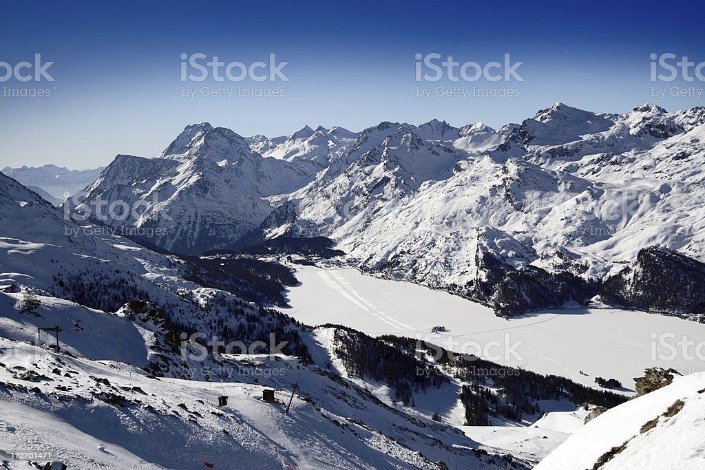 Alpine Panorama royalty-free stock photo