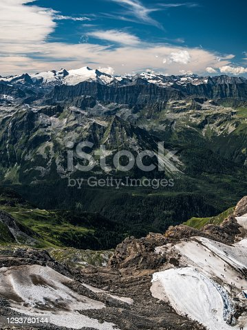 istock Alpine panorama - view from the Kitzsteinhorn 1293780144