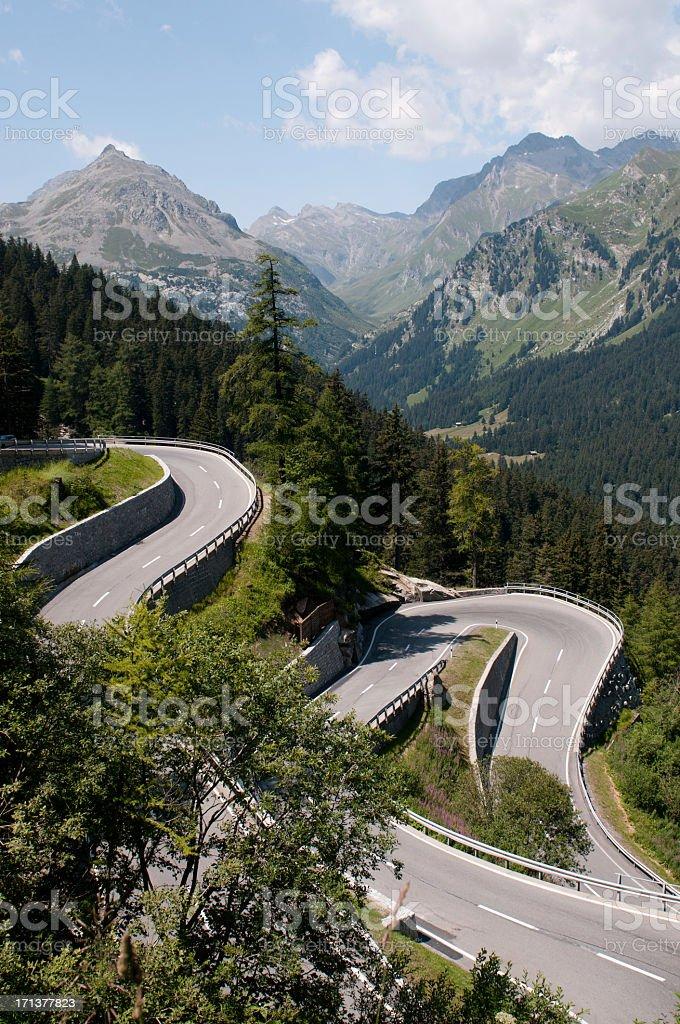 Alpine Pass royalty-free stock photo