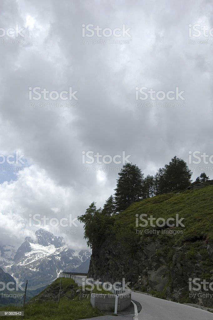 Alpine Pass stock photo