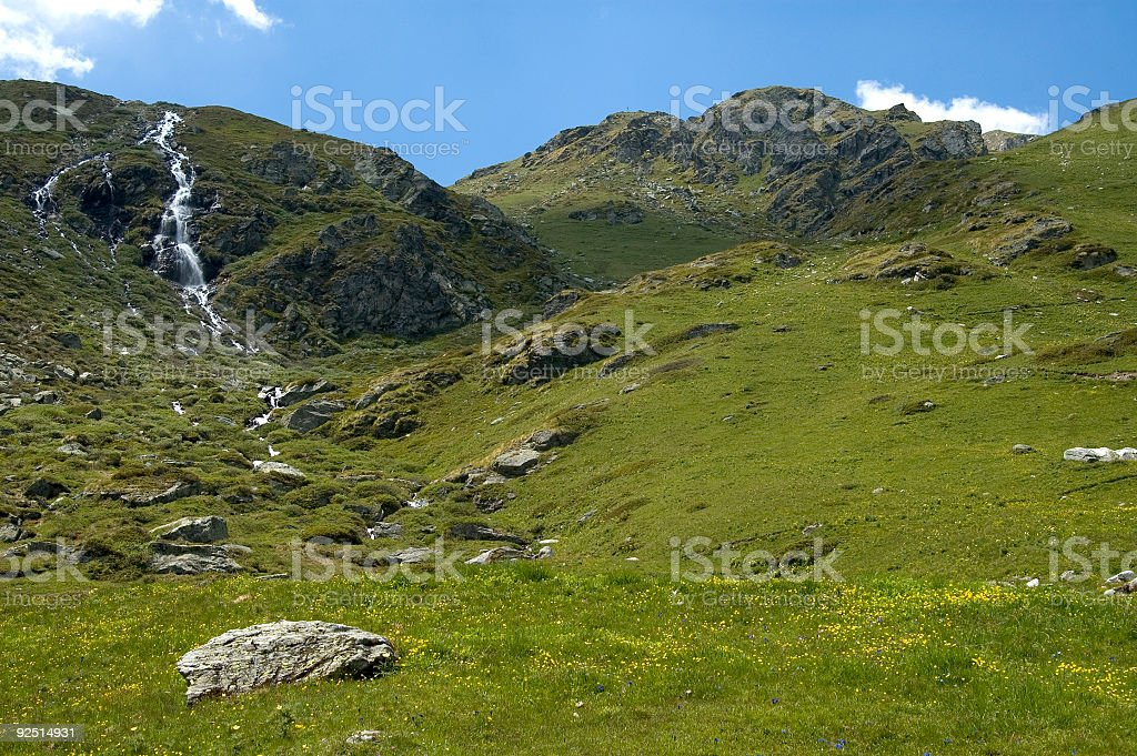 Alpine pasture, CH_05_02060_qs royalty-free stock photo