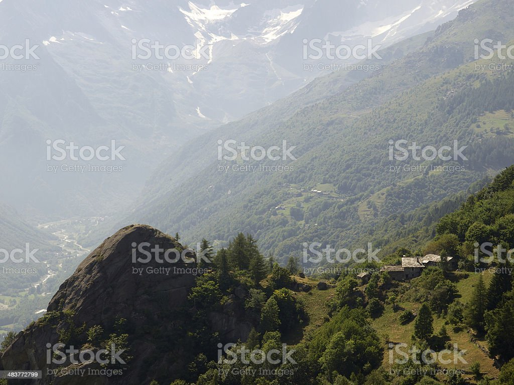 Alpine peak in a summer sunny afternoon royalty-free stock photo