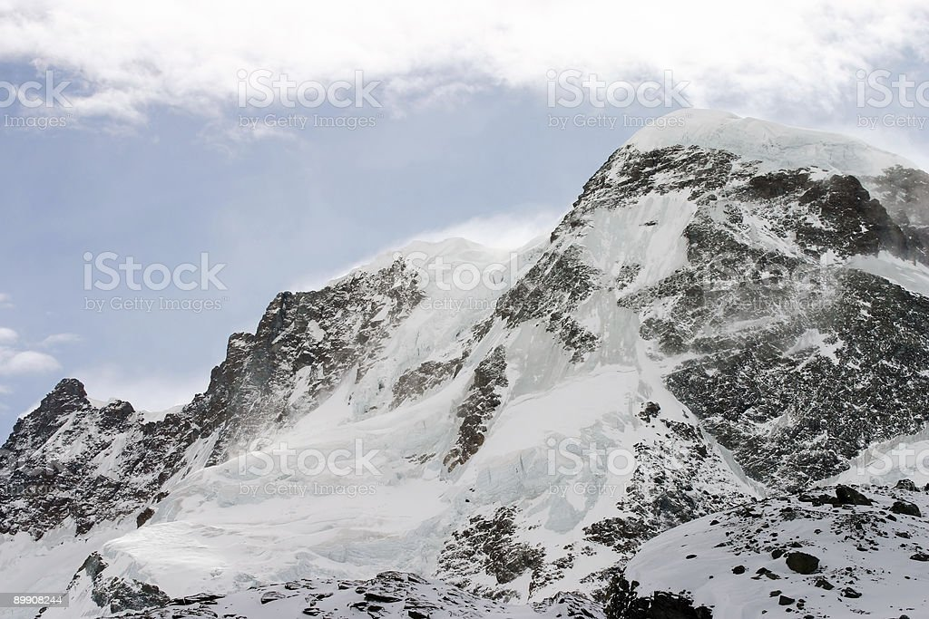 Alpine peak royalty free stockfoto