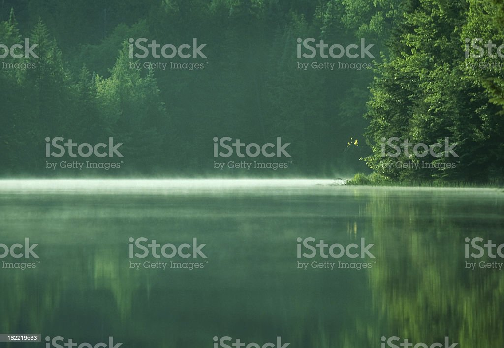 Alpine Pond and Reflection royalty-free stock photo