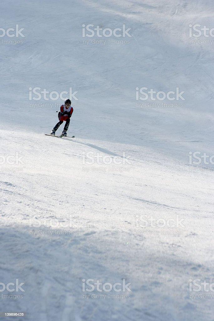 Alpine racer stock photo