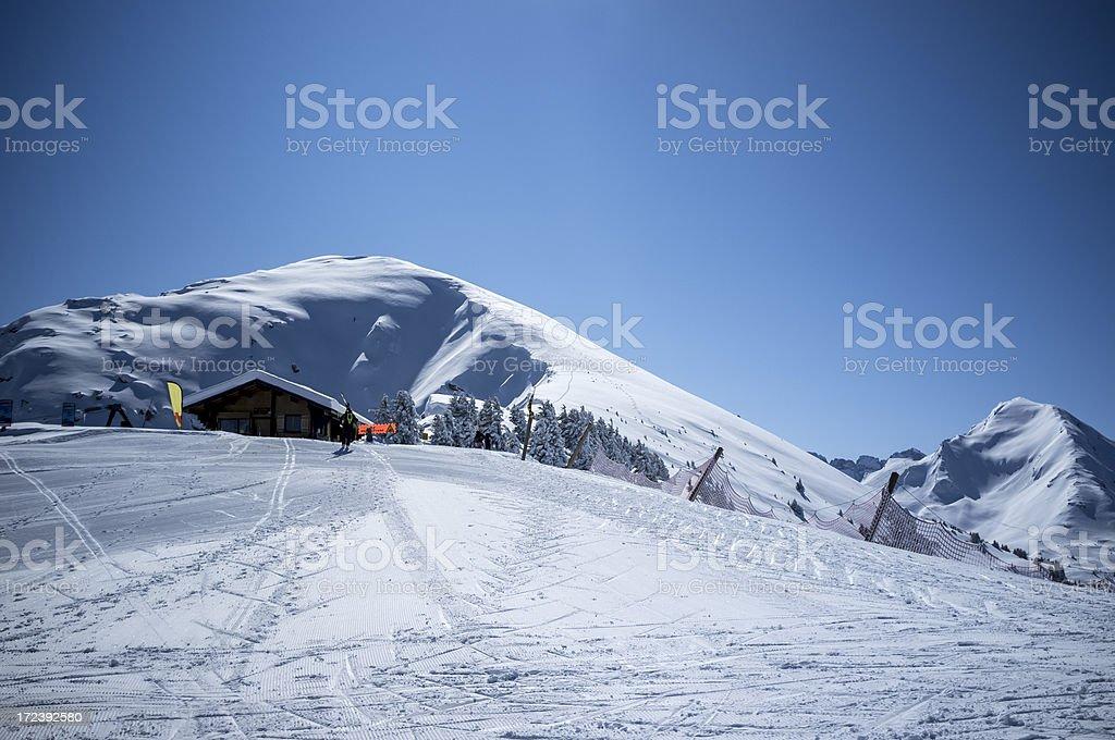 Alpine Rescue Hut royalty-free stock photo