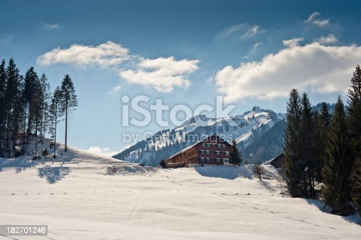 Alpine resort in the european alps.