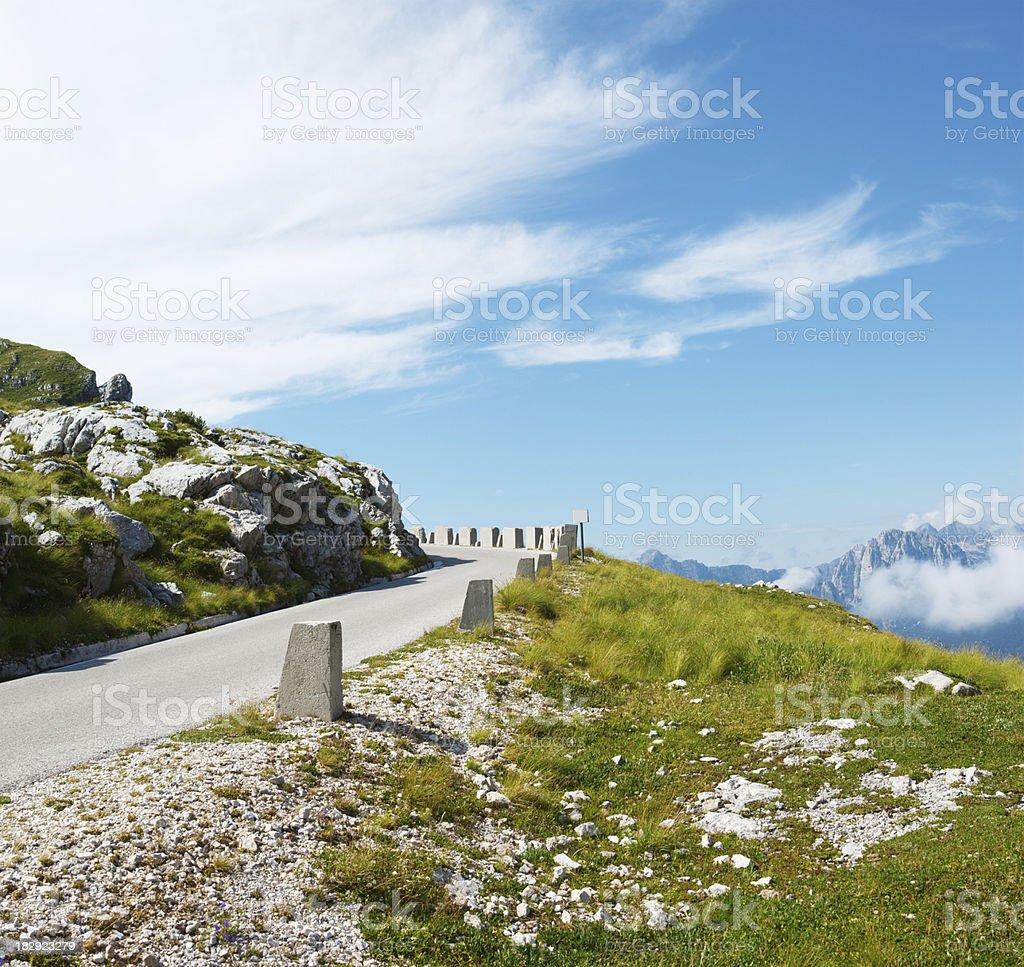 Alpine Road royalty-free stock photo