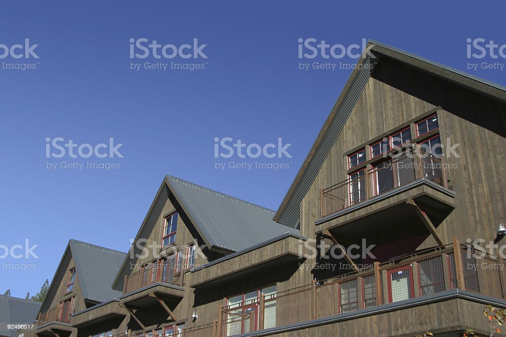 Alpine Roofs royalty-free stock photo