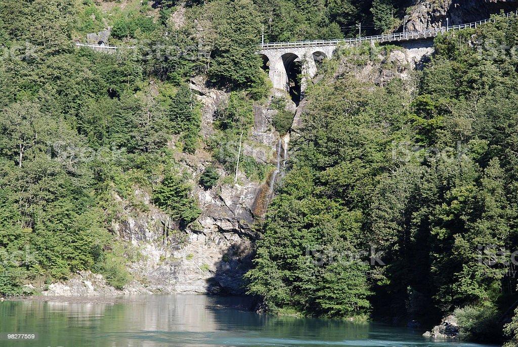 alpine route royalty-free stock photo