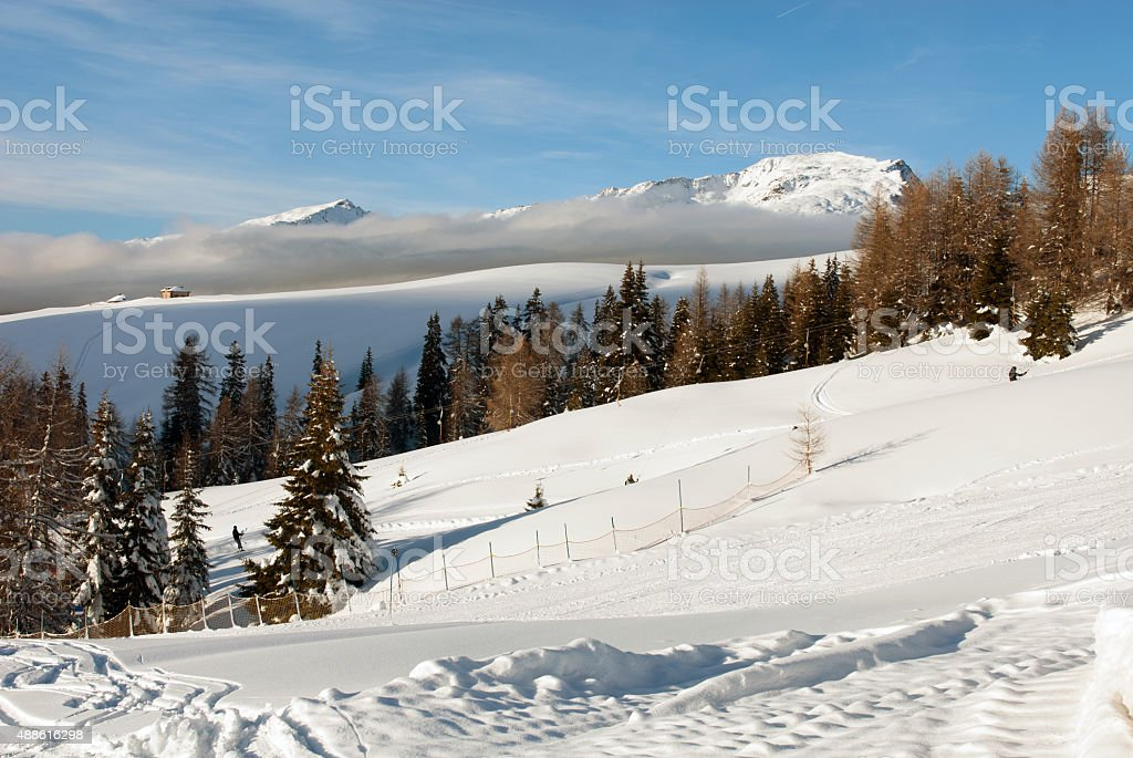 Alpine Scene, the Dolomites, Northern Italy stock photo