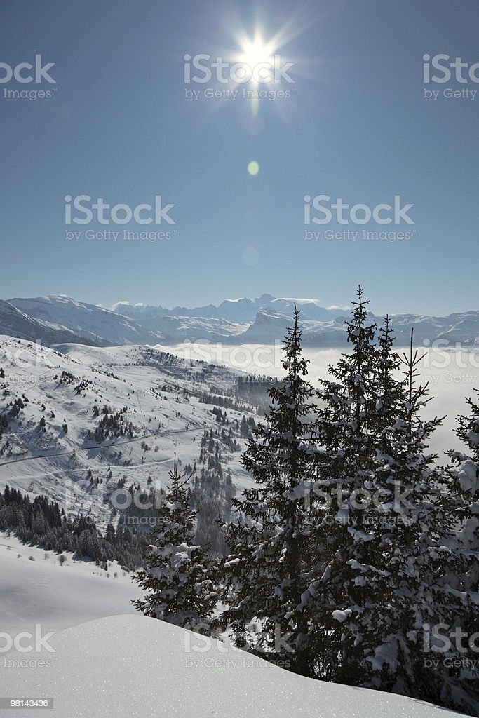 Alpine Scene with Mont Blanc royalty-free stock photo