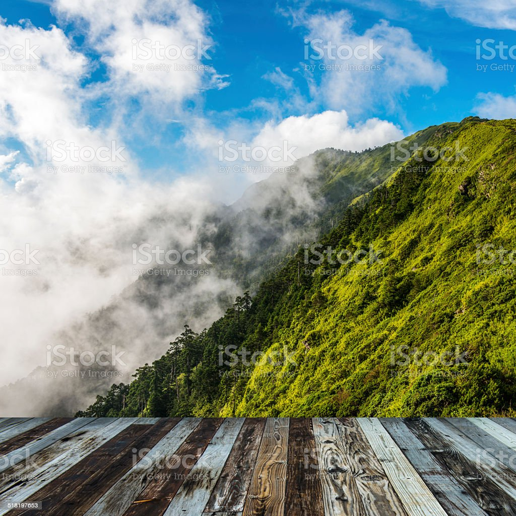 Alpine scenery from Taiwan stock photo