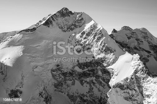 900763322 istock photo Alpine scenery from the air through the airplane window 1088429318
