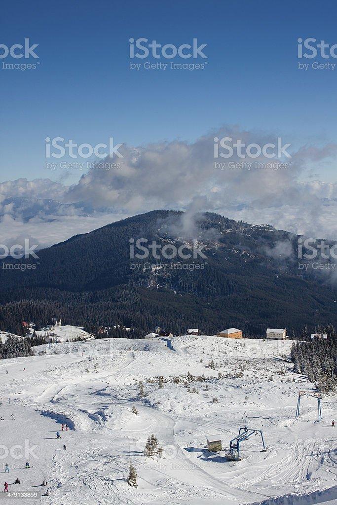 Alpine scenic Ski resort royalty-free stock photo