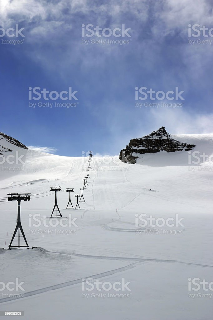Alpine ski slopes royalty-free stock photo