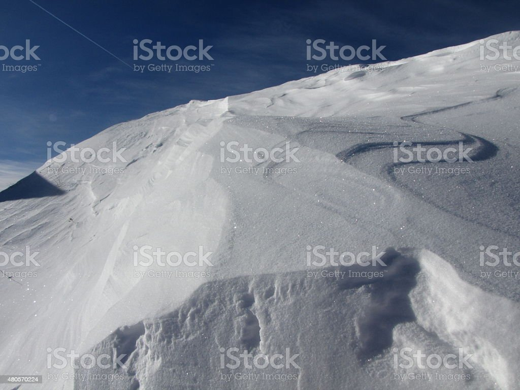 Alpine Skiing in Matrei / Osttirol stock photo