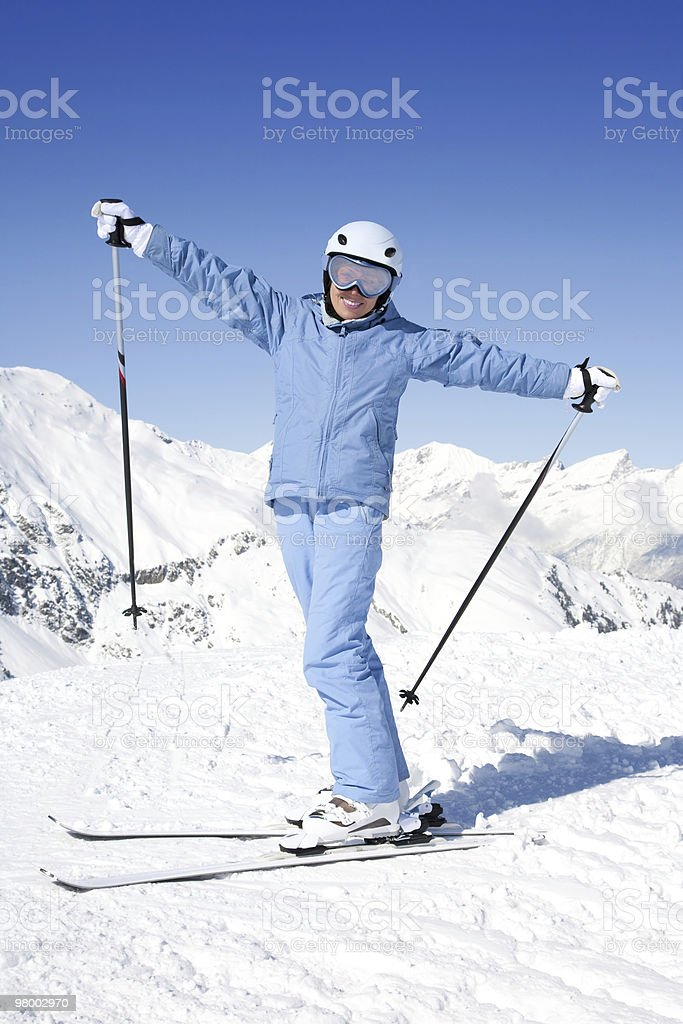 Alpine skiing royalty-free stock photo