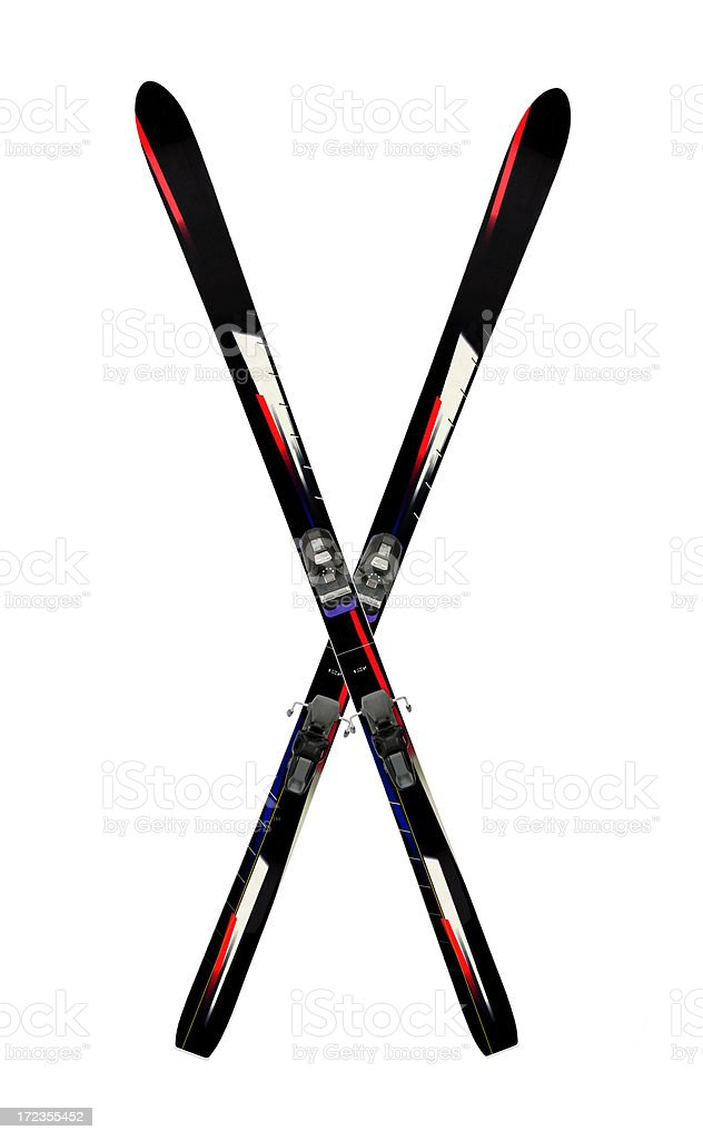 Alpine Skis Crossed royalty-free stock photo