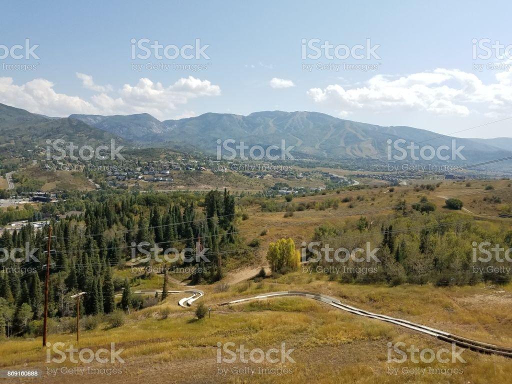 Alpine Slide stock photo
