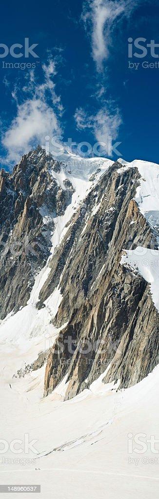 Alpine snow mountain vertical royalty-free stock photo