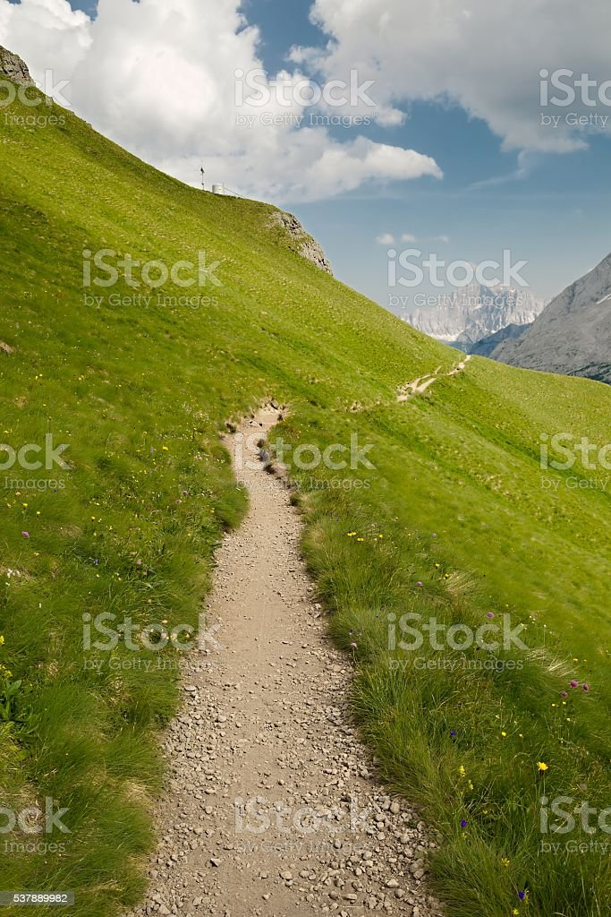 Alpine Summer Landscape stock photo