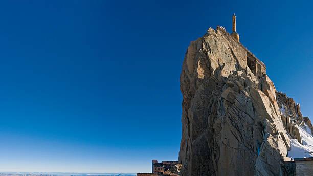 Téléphérique de la station de ski au sommet de l'Aiguille du Midi Mont Blanc - Photo