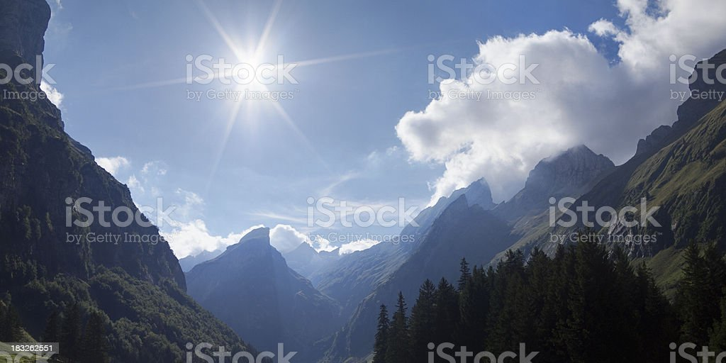 Alpine Sun stock photo