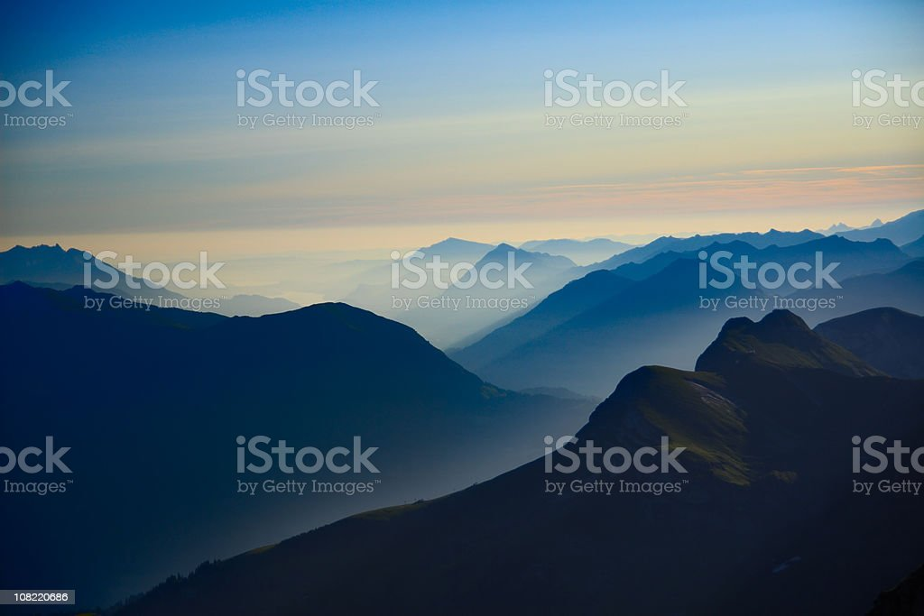 Alpine Sunrise royalty-free stock photo