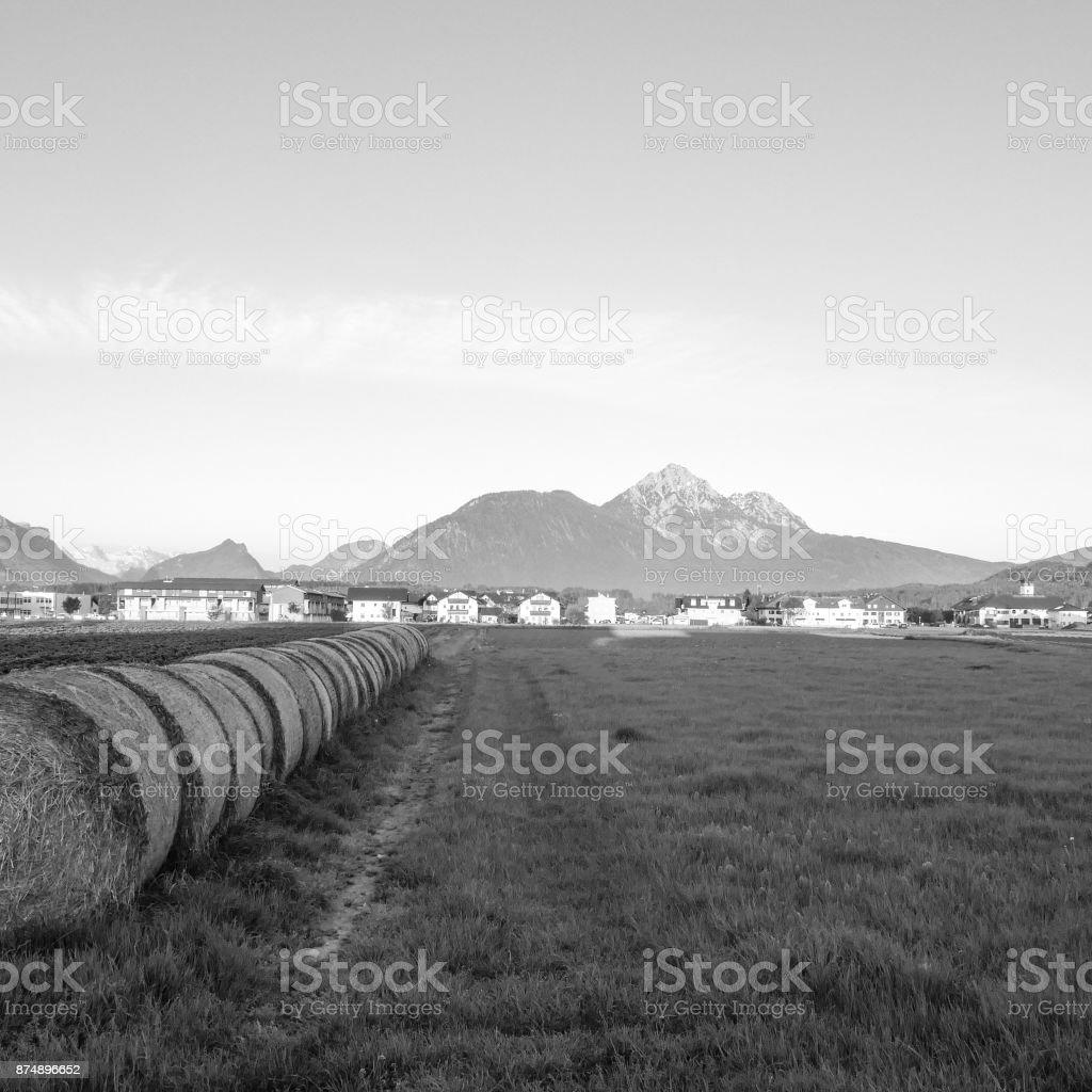 Alpine sunrise stock photo
