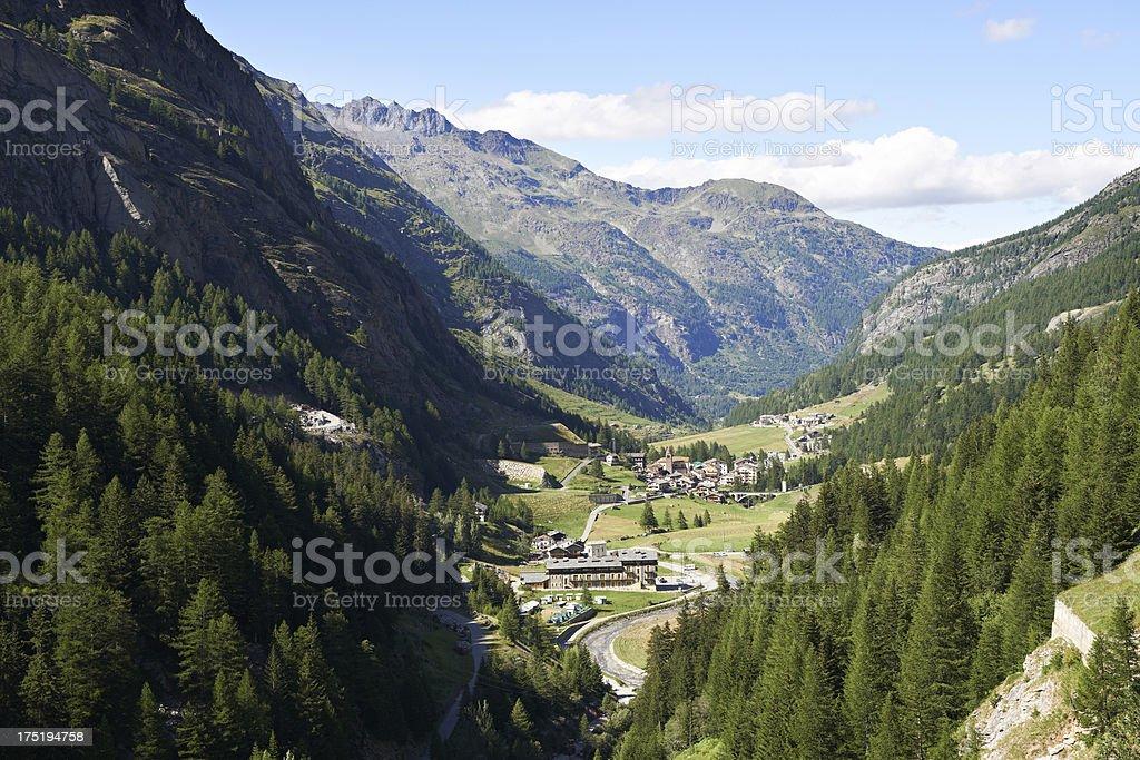 Alpine Valley stock photo